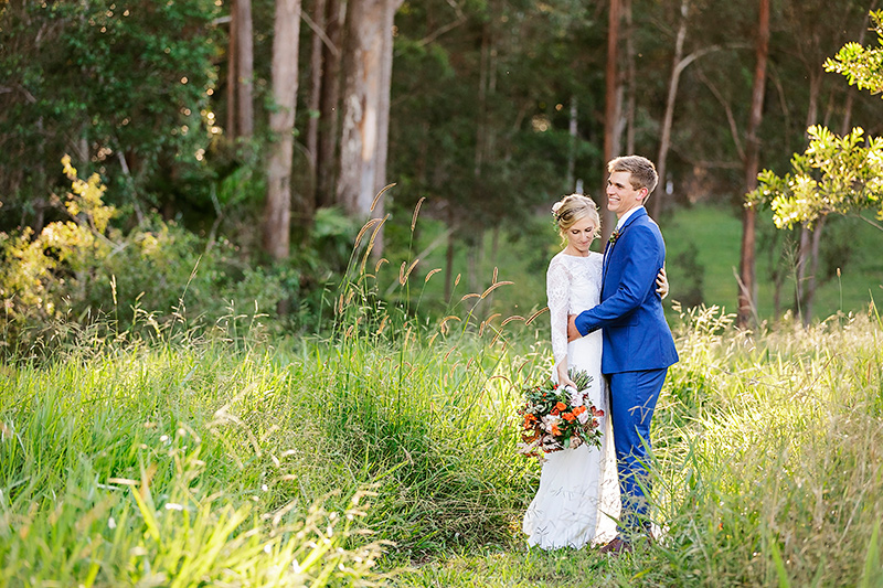 Grasslands wedding couple Sunshine Coast